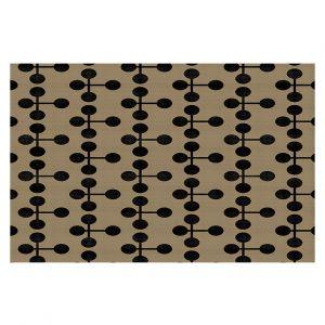 Decorative Floor Coverings | Nika Martinez - Mid Century Dottie Chocolate