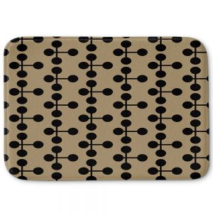 Decorative Bathroom Mats | Nika Martinez - Mid Century Dottie Chocolate