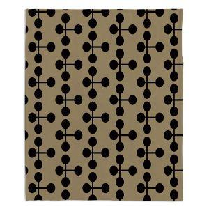 Artistic Sherpa Pile Blankets | Nika Martinez - Mid Century Dottie Chocolate