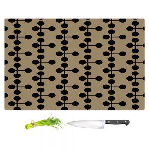Artistic Kitchen Bar Cutting Boards | Nika Martinez - Mid Century Dottie Chocolate