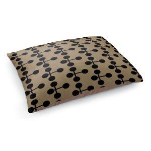 Decorative Dog Pet Beds   Nika Martinez - Mid Century Dottie Chocolate