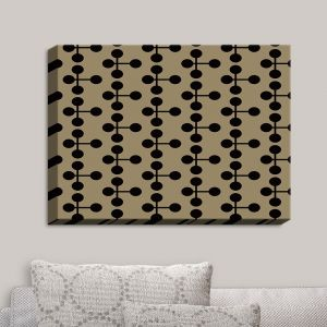 Decorative Canvas Wall Art | Nika Martinez - Mid Century Dottie Chocolate | Patterns
