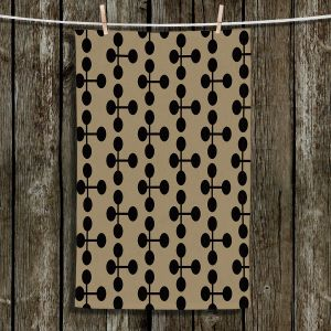 Unique Hanging Tea Towels | Nika Martinez - Mid Century Dottie Chocolate | Patterns