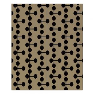 Decorative Wood Plank Wall Art | Nika Martinez - Mid Century Dottie Chocolate