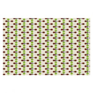 Decorative Floor Coverings | Nika Martinez - Mid Century Dottie Chocolate Lima