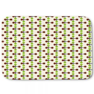 Decorative Bathroom Mats | Nika Martinez - Mid Century Dottie Chocolate Lima