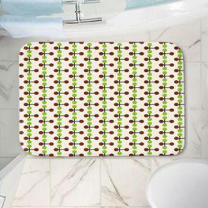 Decorative Bathroom Mats | Nika Martinez - Mid Century Dottie Chocolate Lima