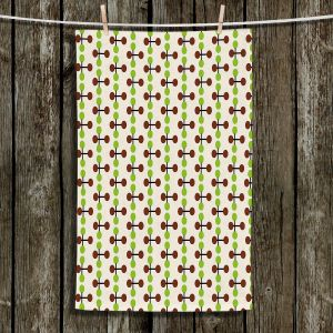 Unique Hanging Tea Towels | Nika Martinez - Mid Century Dottie Chocolate Lima | Patterns