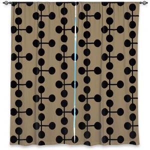 Decorative Window Treatments | Nika Martinez - Mid Century Dottie Chocolate