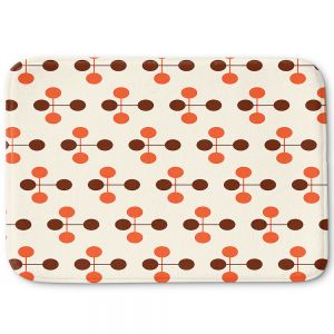 Decorative Bathroom Mats | Nika Martinez - Mid Century Dottie Orange Chocolate