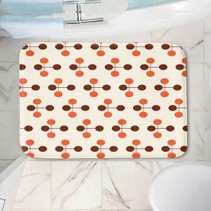 Decorative Bathroom Mats | Nika Martinez - Mid Century Dottie Orange Chocolate