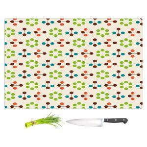 Artistic Kitchen Bar Cutting Boards | Nika Martinez - Mid Century Flower Chocolate Lima