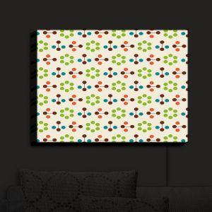 Nightlight Sconce Canvas Light | Nika Martinez - Mid Century Flower Chocolate Lima | Patterns