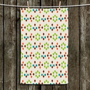 Unique Hanging Tea Towels | Nika Martinez - Mid Century Flower Chocolate Lima | Patterns