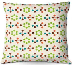 Throw Pillows Decorative Artistic | Nika Martinez - Mid Century Flower Chocolate Lima