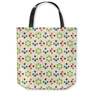 Unique Shoulder Bag Tote Bags | Nika Martinez - Mid Century Flower Chocolate Lima