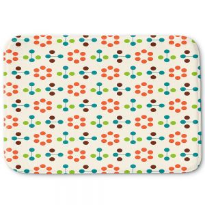 Decorative Bathroom Mats | Nika Martinez - Mid Century Flower Orange