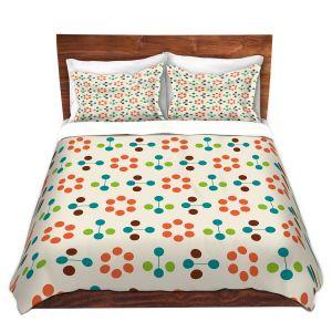 Artistic Duvet Covers and Shams Bedding | Nika Martinez - Mid Century Flower Orange