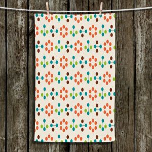 Unique Bathroom Towels | Nika Martinez - Mid Century Flower Orange