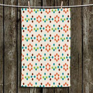 Unique Bathroom Towels | Nika Martinez - Mid Century Flower Orange