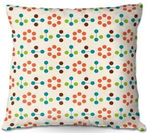 Decorative Outdoor Patio Pillow Cushion | Nika Martinez - Mid Century Flower Orange