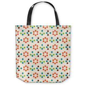 Unique Shoulder Bag Tote Bags | Nika Martinez - Mid Century Flower Orange