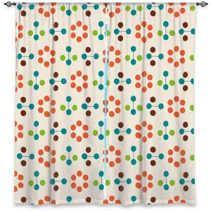 Decorative Window Treatments | Nika Martinez - Mid Century Flower Orange