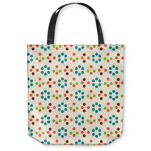 Unique Shoulder Bag Tote Bags | Nika Martinez - Mid Century Flower Turquoise