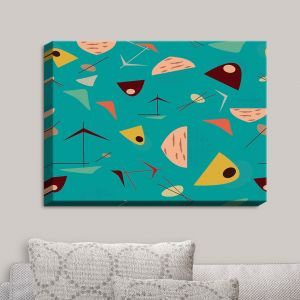 Decorative Canvas Wall Art | Nika Martinez - Mid Century Hero Blue | Patterns