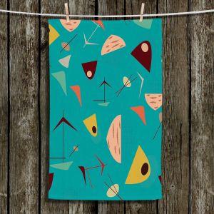 Unique Hanging Tea Towels | Nika Martinez - Mid Century Hero Blue | Patterns
