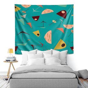 Artistic Wall Tapestry | Nika Martinez - Mid Century Hero Blue