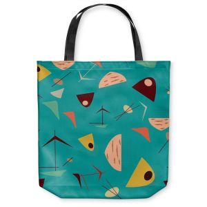 Unique Shoulder Bag Tote Bags | Nika Martinez - Mid Century Hero Blue