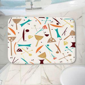 Decorative Bathroom Mats | Nika Martinez - Mid Century Hero Cream