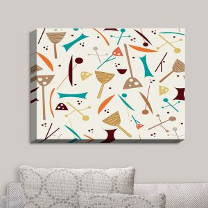 Decorative Canvas Wall Art | Nika Martinez - Mid Century Hero Cream | Patterns