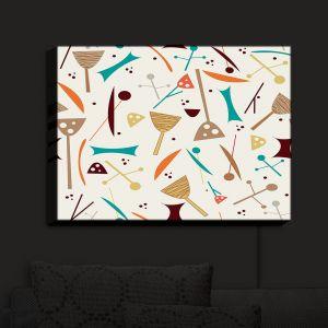 Nightlight Sconce Canvas Light | Nika Martinez - Mid Century Hero Cream | Patterns