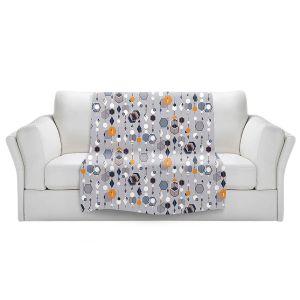 Artistic Sherpa Pile Blankets | Nika Martinez - Mid Century Hexagons 2 | modern pattern shapes geometric