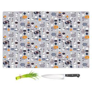 Artistic Kitchen Bar Cutting Boards | Nika Martinez - Mid Century Hexagons 2 | modern pattern shapes geometric