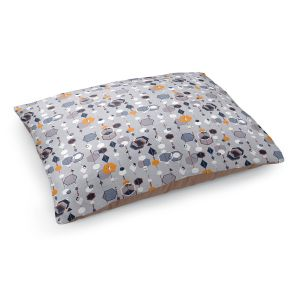 Decorative Dog Pet Beds | Nika Martinez - Mid Century Hexagons 2 | modern pattern shapes geometric