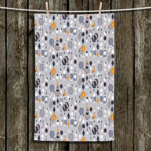Unique Bathroom Towels | Nika Martinez - Mid Century Hexagons 2 | modern pattern shapes geometric