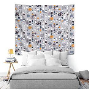 Artistic Wall Tapestry | Nika Martinez - Mid Century Hexagons 2 | modern pattern shapes geometric