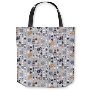 Unique Shoulder Bag Tote Bags | Nika Martinez - Mid Century Hexagons 2 | modern pattern shapes geometric