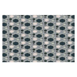 Decorative Floor Covering Mats | Nika Martinez - Mid Century Hexagons 3 | modern pattern shapes geometric