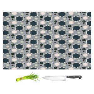 Artistic Kitchen Bar Cutting Boards | Nika Martinez - Mid Century Hexagons 3 | modern pattern shapes geometric