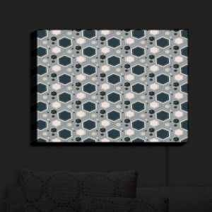 Nightlight Sconce Canvas Light | Nika Martinez - Mid Century Hexagons 3 | modern pattern shapes geometric