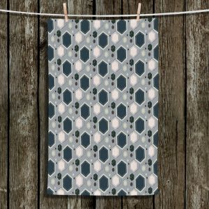 Unique Hanging Tea Towels | Nika Martinez - Mid Century Hexagons 3 | modern pattern shapes geometric