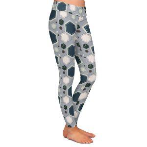 Casual Comfortable Leggings   Nika Martinez - Mid Century Hexagons 3   modern pattern shapes geometric
