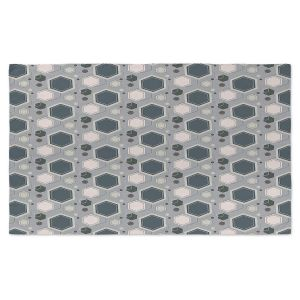 Artistic Pashmina Scarf | Nika Martinez - Mid Century Hexagons 3 | modern pattern shapes geometric