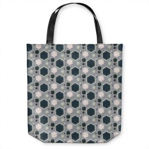 Unique Shoulder Bag Tote Bags | Nika Martinez - Mid Century Hexagons 3 | modern pattern shapes geometric