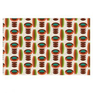 Decorative Floor Coverings | Nika Martinez - Mid Century Modern Orange