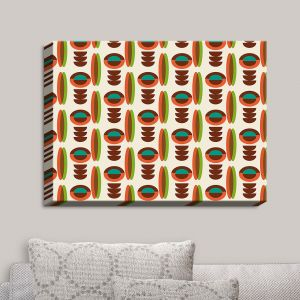 Decorative Canvas Wall Art | Nika Martinez - Mid Century Modern Orange | Patterns